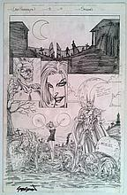 Lady Pendragon Original Pencil Art By John Stinsman Signed