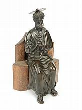 Sujet en bronze patiné XIXe.