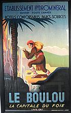 Affiche 'Le Boulou' d'après un dessin de BONNARD