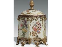 Ceramic inlaid copper lid box
