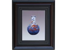 Embroidery blue underglaze red dragon Vase (Suzhou Embroidery with Blue and White Dragon Pattern)