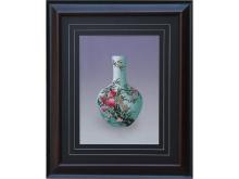 Embroidery pattern peach Vase (Suzhou Embroidery with Peach Vase Pattern)