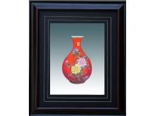Floral embroidery Yu Hu Chun bottle (Suzhou Embroidery with Flower Spring Bottle Pattern)
