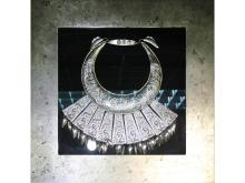 Miao silver necklace decorated box