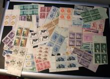 US STAMPS ASSORTED MINT NH PLATE BLOCKS, LOT OF 50 PLATE BLOCKS! NICE!! VINTAGE! SEE PHOTOS!