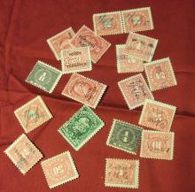 US STAMPS MISC. REVENUE STAMPS-USED (LOT OF 17), SEE ALL PHOTOS!