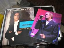 Micheal Bolton Signed Photo PSA/DNA and Vintage Unopened 1987 Vinyl Recording.