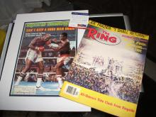 Larry Holmes vs Earnie Shavers SI Cover PSA/DNA Plus Vintage The Ring Magazine 1977 Boxing Heavyweight Champion