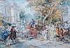 L'Arrive Des Invites signed watercolour