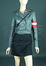 IS038 - Iron Sky - Renate's (Julia Dietze) Grey Leather Jacket Costume