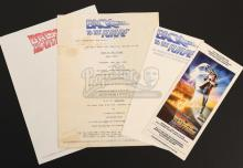 BACK TO THE FUTURE (1985) - Wrap Party and Screening Invitation with Film Stationary