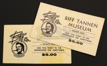 BACK TO THE FUTURE PART II (1989) - Pair of Biff Tannen Museum Tickets