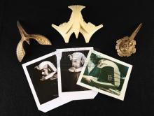 BATTLESTAR GALACTICA (1978) - Viper Pilot Helmet Crest Prototypes and Reference Photos