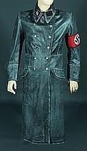 IS014 - Iron Sky - Long German Moon Trooper Leather Jacket