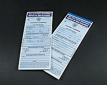 IS265 - Iron Sky - Two NYPD Original Prop Citation Pads