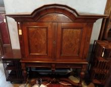 A Late 18th Century/ Early 19th Century Dutch Cupboard on Stand