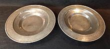 A Pair of Large Chinese Silvered Platters