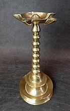A 19th C Brass Oil Lamp