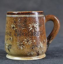 A Martinware Christening Cup