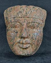 A Late Period Egyptian Life Size Granite Head