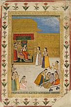 Madhavanala and Kamakandala, A Wandering Yogi Faints Before a Princess, by Dalchand