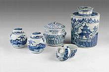 An Assorted Group of Blue and White Chinese Porcelain
