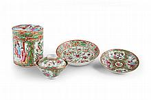 A Group of Chinese Export Canton Porcelain