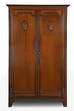 A Double Cupboard with Inlay Decoration