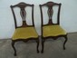 2 Old Inlaid Chip N Dale chairs Period