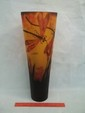 Contemporary Galle Amber Dragonfly Vase 21 Inch Nice