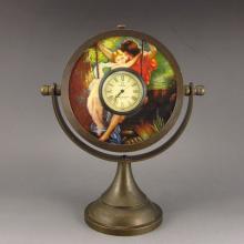 Chinese Brass Mechanical Watch w Mirror