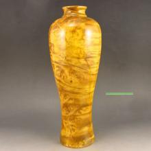 Superb Design Hand Carved Chinese Natural Jin Si Nan Wood Vase