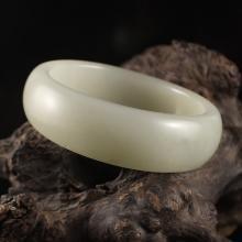 Internal Diameter 55 mm Chinese Natural Hetian Jade Bracelet