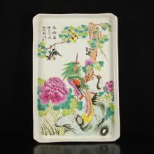 Superb Hand-painted Chinese Famille Rose Porcelain Tea Plate