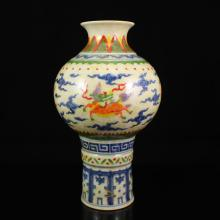 Chinese Underglaze Blue And White Porcelain Vase
