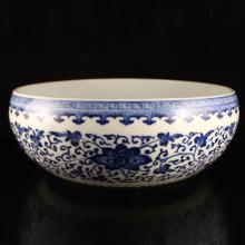 Superb Hand-painted Chinese Blue And White Porcelain Big Brush Washers