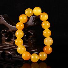 Beautiful Color Hand Carved Indonesia Natural Jin Tian Huang Bracelet