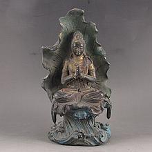 Chinese Bronze Statue - Seated Buddha