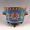 Handmade Chinese Cloisonne Bronze Incense Burner Jing Tai Mark