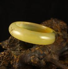 Internal Diameter 52 mm Chinese Natural Jade Bracelet