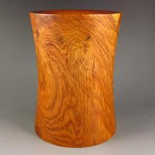 Beautiful Design Chinese Natural Huali Wood Brush Pot