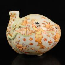 Chinese Luminous Porcelain w Ink Tank