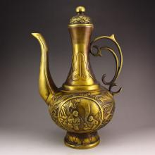 Chinese Bronze Wine Pot