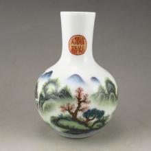 Hand Drew Chinese Famille Rose Porcelain Vase