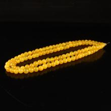 Beautiful Color Chinese Natural Huanglong Jade Beads Necklace