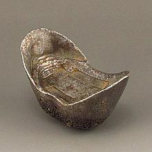 Chinese Qing Dynasty Guang Xu Period Silver Ingot
