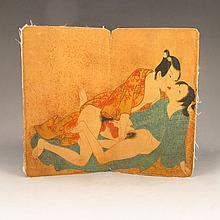 Hand-painted Japanese Nude Woman & Man Cartoon / Painting