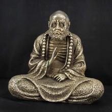 Chinese White Bronze Statue - Dharma