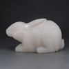 Superb Hand Carved Chinese Shoushan Stone Statue Lovely Rabbit