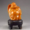 Hand-carved Chinese Shoushan Stone Statue - Big Belly Laughing Buddha